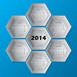 2014 blue hexagon calendar design