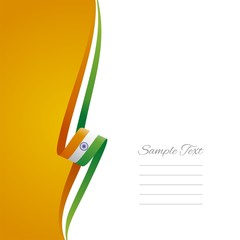 Indian left side brochure cover vector