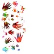 Colorful music hands vector