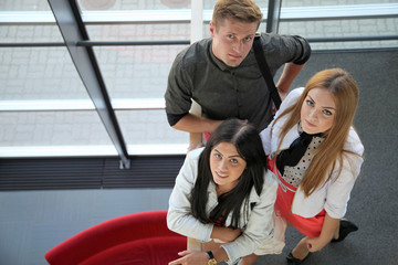 Group of students in the university