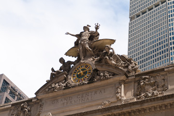 Gran Central Terminal facade in New York City