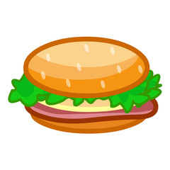 hamburger isolated illustration