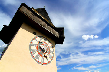 The Clock tower in Graz.