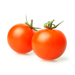 Red tomato on white, macro