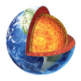Earth cross section. Lower Mantle version.