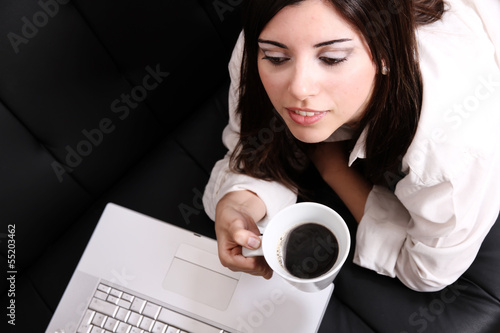 Coffee and Laptop.