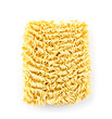 Instant noodles isolated on white background