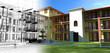 Rendering progetto, esterni, condominio, Appartamento,3d
