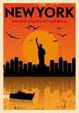 Fototapety Vintage New York Poster
