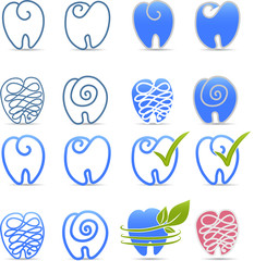 Tooth symbols. Interesting design.