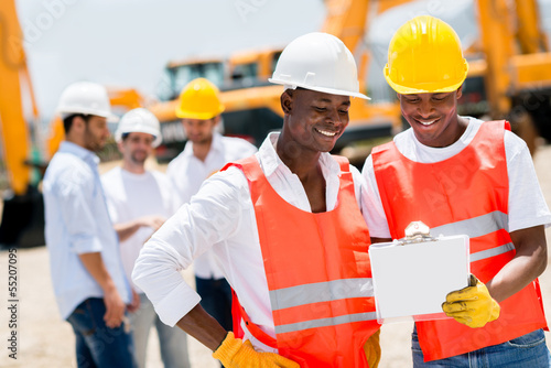 Workers at a building site