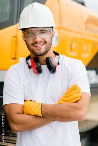 Worker at a construction site