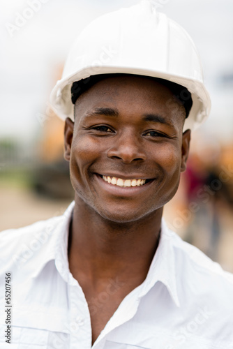 Engineer at a building site