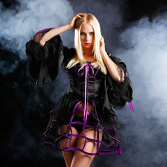 woman in gothic halloween style