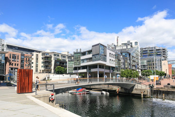 The modern center of Oslo