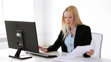 attractive office worker