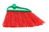 red and modern broom