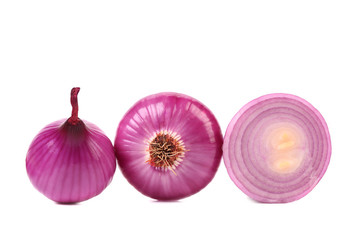 Red onions and slice