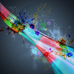 abstract background rainbow light with splashing color