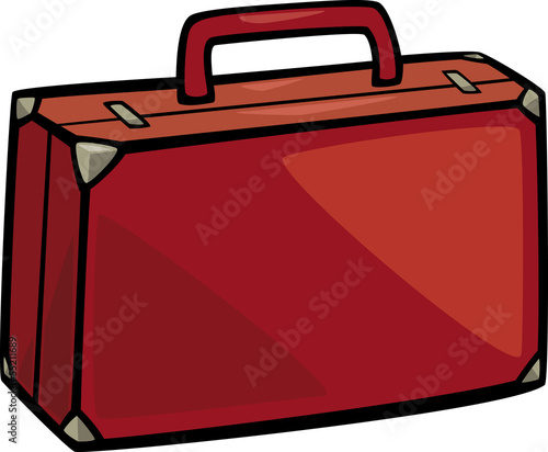 suitcase clip art cartoon illustration