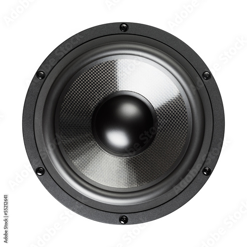 loudspeaker, closeup view