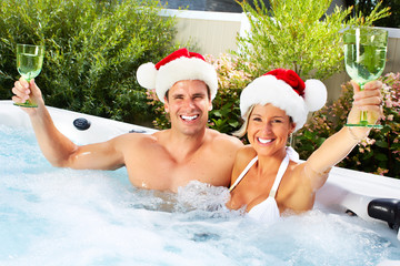 Happy Christmas santa couple