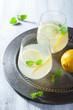 fresh lemonade in glasses