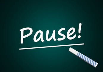 Pause (Mittagspause, Arbeit, Stress, Erholung)