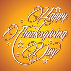 Creative calligraphy of text Happy Thanksgiving Day
