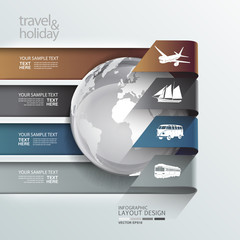 Abstract globe travel & holiday transportation element template
