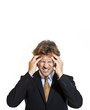 Businessman suffering from migraine