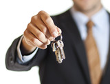 Businessman handing over keys