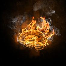 """Постер, картина, фотообои """"Human brain in fire"""""""