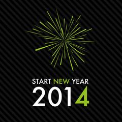 Silvester 2014 Start New Year - Green Fireworks