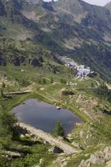 Vista sul Santuario di Sant'Anna di Vinadio