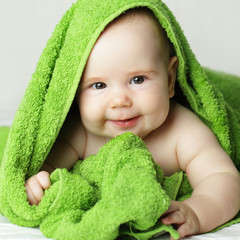 Smiling baby, cute face