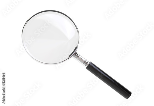 Magnifying glass with clipping path