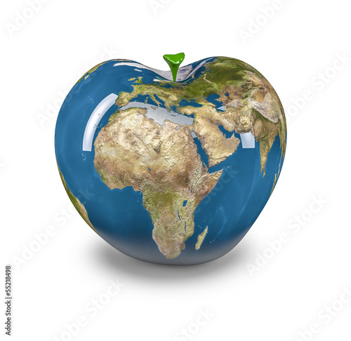 Apple Earth, Earth map texture source: cinema4dtutorial.net