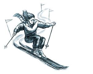 skier woman