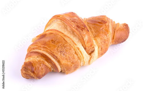 Fotobehang Brood croissant isolated on white background