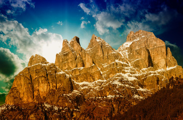 Stunning Landscape and Mountains of Italian Alps