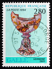 Postage stamp France 1994 Glassware, 1901, by Emile Galle