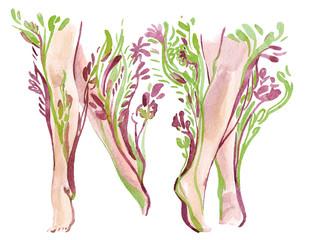 legs in nature