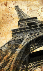 Tour Eiffel in vintage
