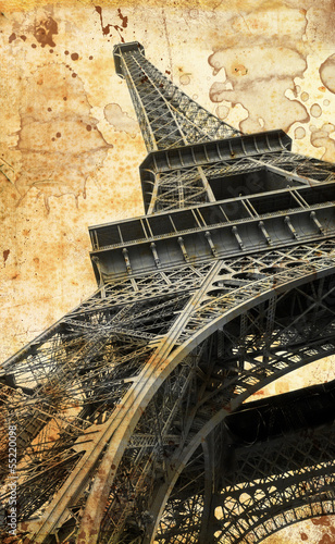 Tour Eiffel in vintage - 55220098
