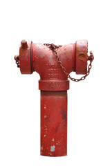 Red fire hose isolated clipping path included
