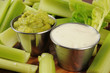 Guacomole and Ranch Dressing Dips