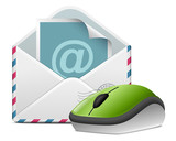 Mail with wireless mouse