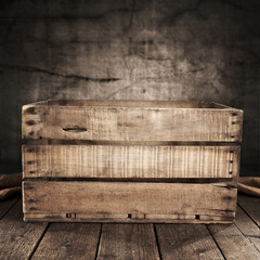 wooden coffer