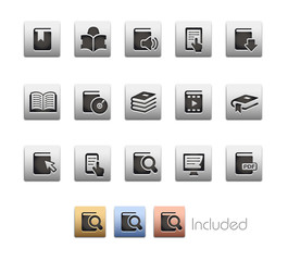 Book Icons_Vector includes 4 color versions= Layers
